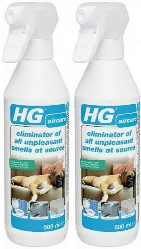 HG eliminator of all unpleasant smells at source 500ml Pack of 2